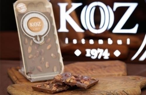 El Yapımı Antep Fıstıklı Sütlü Tablet Çikolata 105gr