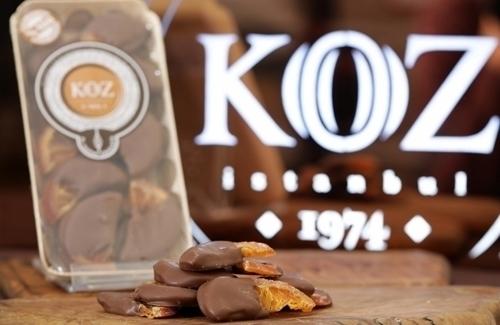 El Yapımı Çikolata kaplı Sütlü Dilim Portakal 175gr